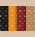 set of backgrounds of black orange red and brown vector image