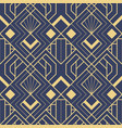 abstract art deco seamless blue pattern 53 vector image vector image