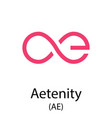 aetenity cryptocurrency symbol vector image vector image