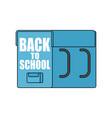 back to school big schoolbag for september 1 vector image