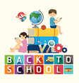 back to school design education idea vector image vector image