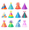 birthday caps cartoon party decoration vector image