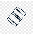 blanket concept linear icon isolated on vector image