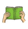book in hands sketch vector image vector image