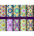 Bright kaleidoscopic patterns set vector image vector image