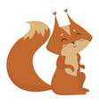 cartoon squirrel a vector image vector image