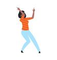 cartoon trendy woman dancing cute female at disco vector image vector image