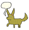 cartoon wild dog with speech bubble vector image vector image