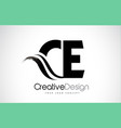 ce c e creative brush black letters design with vector image vector image