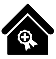 Certified Clinic Building Flat Icon vector image
