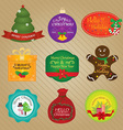 Christmas and Happy New Year Tags vector image