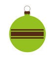 christmas ball isolated icon vector image