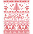 christmas pattern merry christmas pattern vector image vector image
