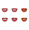 clipart of red female lips for dental design vector image vector image
