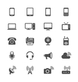 Communication device flat icons vector image vector image