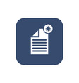 create document- icon flat design vector image vector image