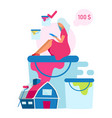 customer making paint choice flat woman choosing vector image vector image