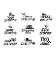 Delivery shipping set icons vector image