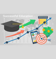 diagram of successful education vector image vector image