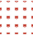display icon pattern seamless white background vector image vector image