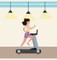 fitness exercise cartoon vector image vector image