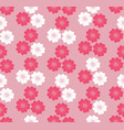floral blossom seamless pattern background vector image