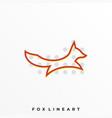 fox line art design template vector image vector image