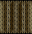gold waves 3d seamless pattern drapery curtains vector image