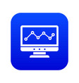 graph in computer screen icon digital blue vector image vector image