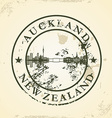 Grunge rubber stamp with Auckland New Zealand vector image