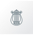 harp icon line symbol premium quality isolated vector image