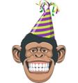 Head chimpanzee in a cap vector image vector image