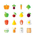 healthy food - modern color flat design vector image