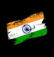india flag grunge brush background old brush flag vector image