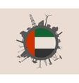 Industrial silhouettes Unitad Arab Emirates flag vector image vector image