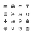 Logistic icons vector image