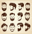 male hairstyle beauty haircut salon for man vector image