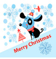 merry christmas puppy vector image