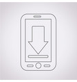 mobile phone download icon vector image vector image