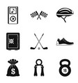 music for training icons set simple style vector image vector image