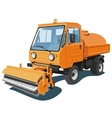 Orange street sweeper vector image vector image