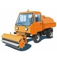 Orange street sweeper vector image vector image