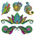 paisley elements vector image vector image