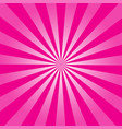 pink ray retro background vector image vector image