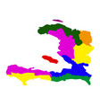 political map of haiti vector image vector image
