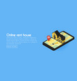 real estate online searching isometric flat web vector image vector image