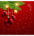 Red decorations and golden stars vector image