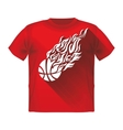 Retro Sport Flame Mascot T-shirt with a basketball vector image