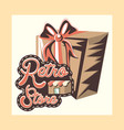 retro store shopping vector image