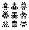 Robot Icon Set vector image vector image